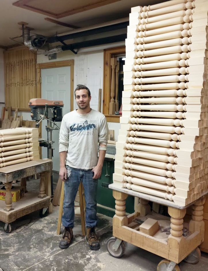 All spindles are individually sanded and inspected before shipping.