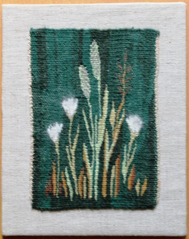 Flemish weave with cottongrass