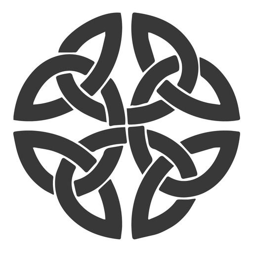 BLACK /& WHITE GRAPHIC CELTIC KNOT KNOTS Embroidered Iron on Patch Free Postage