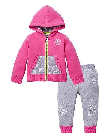 Converse Baby Girl Tracksuit Converse Tracksuit. A great addition to your little girls casual wardrobe. This Converse hoodie and jog set is a comfy and stylish set to keep your little one cosy. Featuring soft grey joggers with st http://www.MightGet.com/january-2017-13/converse-baby-girl-tracksuit.asp