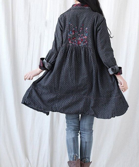 Hey, I found this really awesome Etsy listing at https://www.etsy.com/listing/79981718/cotton-single-breasted-dress-denim-long
