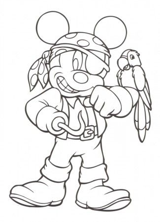Mickey Mouse - Free Disney Halloween Coloring Pages #halloween #disney