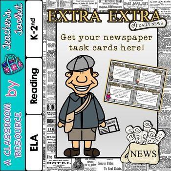 {Freebie} Note-worthy Newspaper Task Cards!