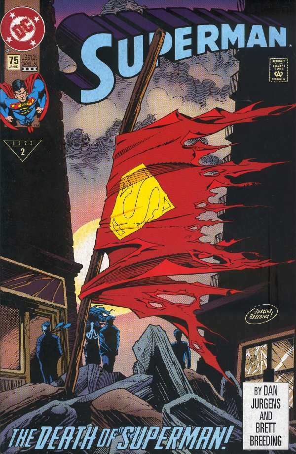 The Death of Superman - DC:  A new enemy/threat to Earth is release and only one man can stop him