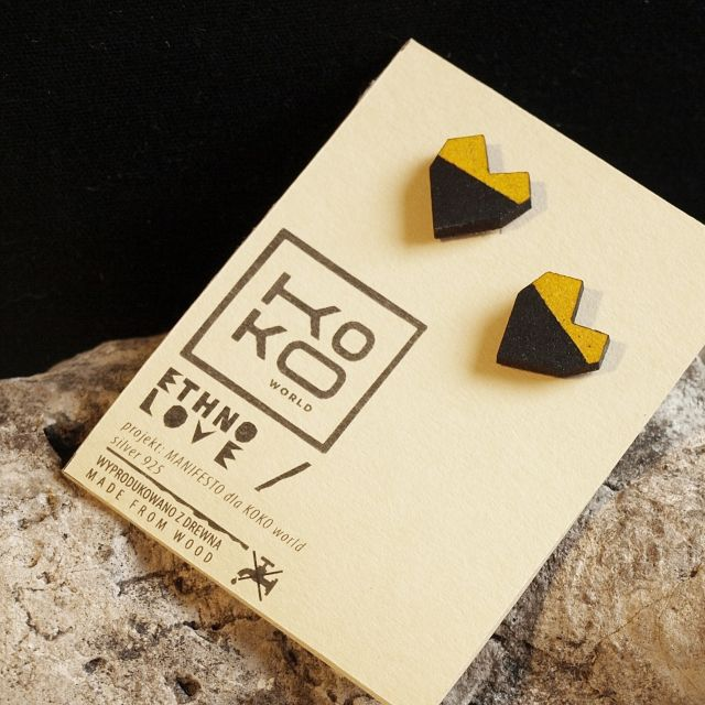 Kolczyki Ethno Love www.kokoworld.pl #kokoworld #earrings #africanhandmade #africa #ethno #heartshape