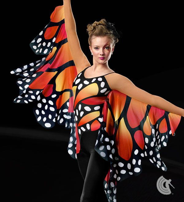 Curtain Call Costumes® - Monarch In Flight :: Flowers and Gardens :: Contemporary Dance Costume