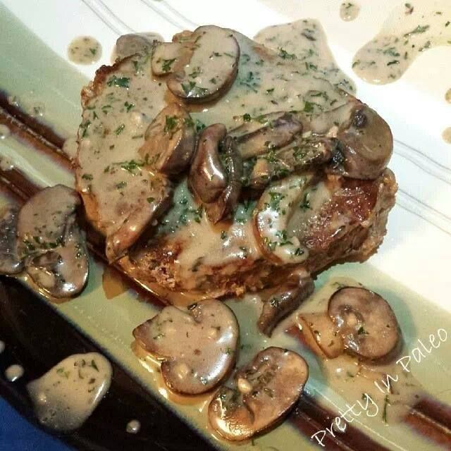 Pan Seared Steak and Mushroom Sauce   fastPaleo Primal and Paleo Diet Recipes