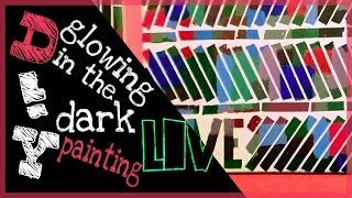 DIY - special glow in the dark painting - YouTube