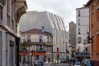 Wohnhaus von Dietmar Feichtinger Architectes in Paris / Lamellenvorhang ganz in Weiß - Architektur und Architekten - News / Meldungen / Nachrichten - BauNetz.de