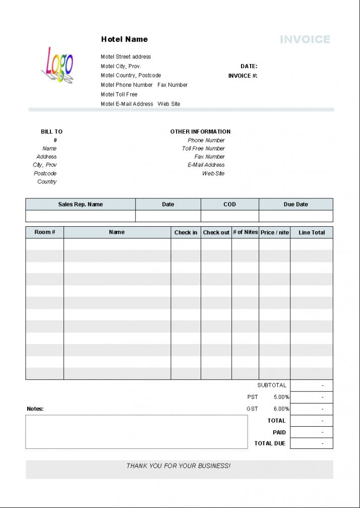 Browse Our Sample Of Hotel Accommodation Receipt Template Invoice Format Invoice Template Word Invoice Template