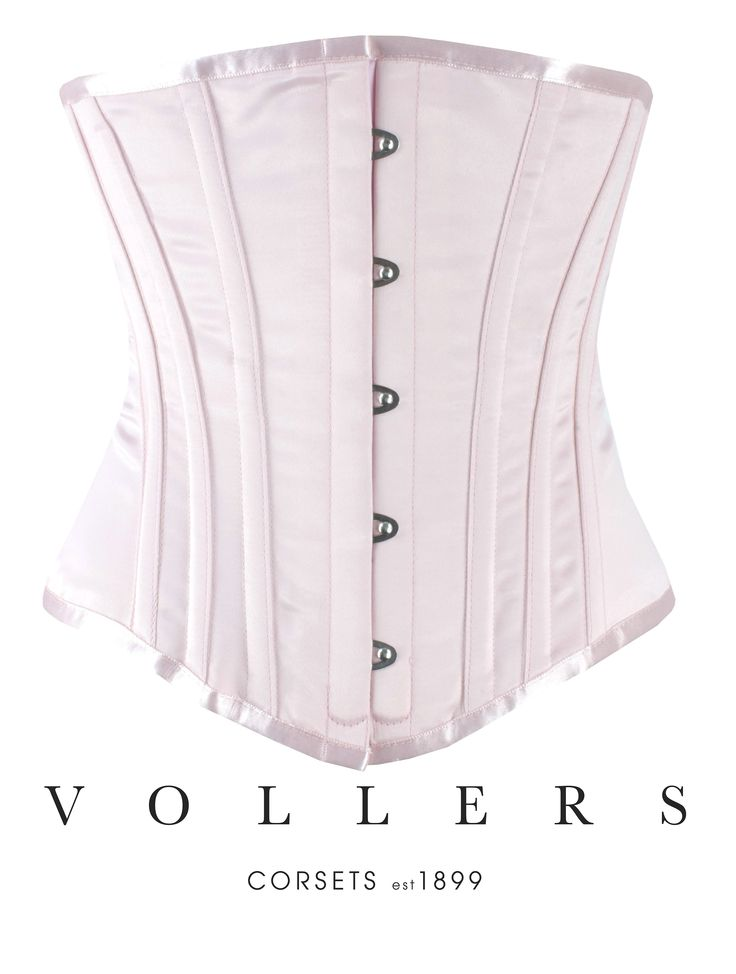 Vollers - Lusso Corset - Baby Pink Satin Waist Training