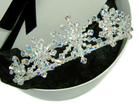 Crystal Snowflake Wedding Bridal Tiara For Winter by TheLandOfBeau, £79.00