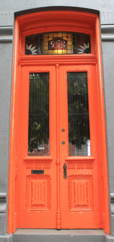 Tangerine door.