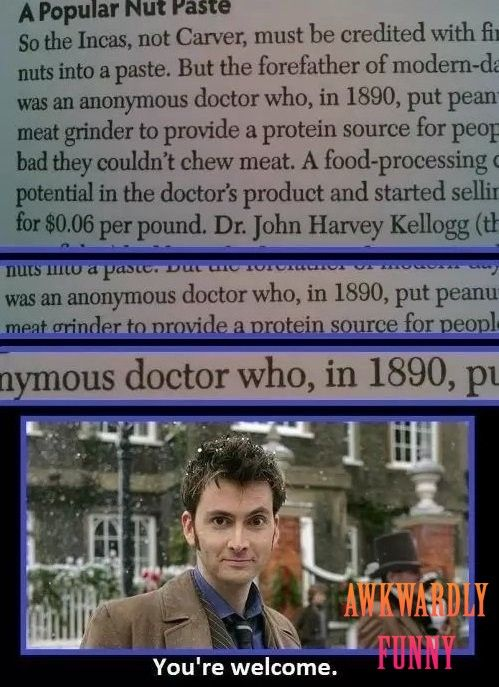 Lawl.. you will love this! And he created modern peanut butter