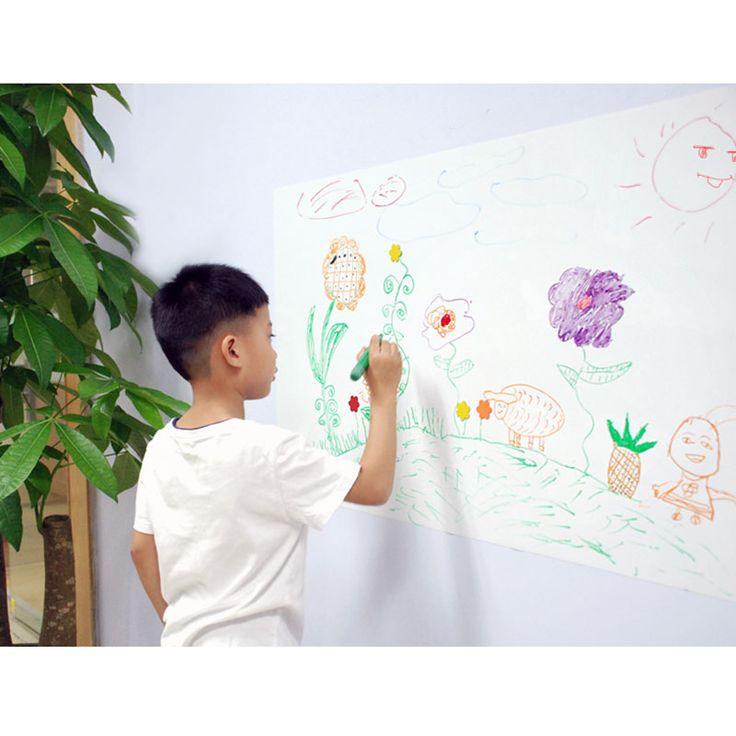 ילדים לוחות כתיבת מחיק מגנטי גמיש תוויות עם גלוס לבן יבש לנגב משטח לוח לבן לבית וול 60x40 cm x 0.3mm