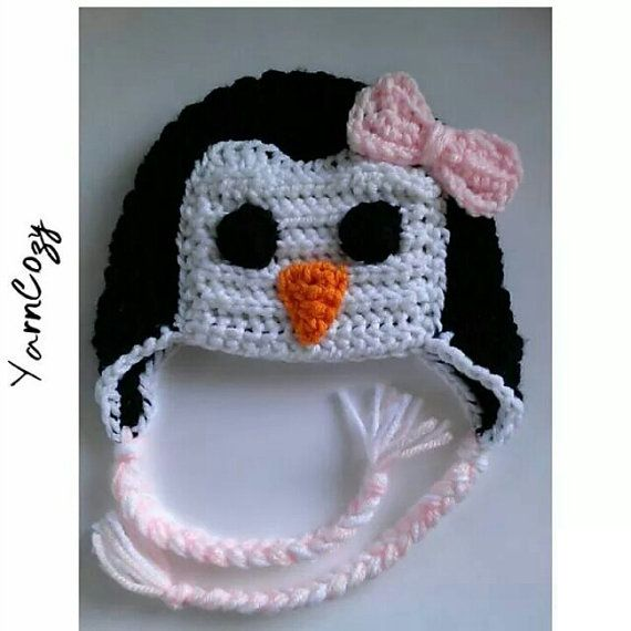 Check out this item in my Etsy shop https://www.etsy.com/listing/460012262/baby-penguin-hat-baby-shower-gift-girl