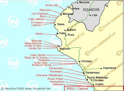 North - Surfing in North, Peru - WannaSurf, surf spots atlas, surfing photos, maps, GPS location
