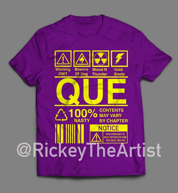 OMEGA PSI PHI Ingredients Tshirt