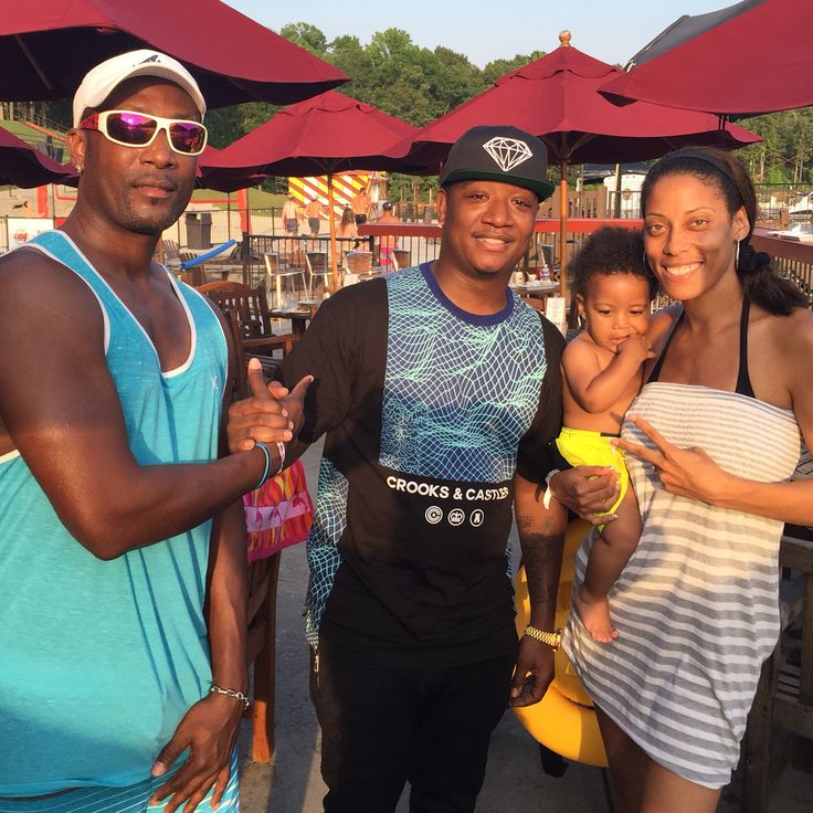 At Lake Lanier you never know who you might run into..in our case Young Joc from Love and Hip Hop Atlanta!!