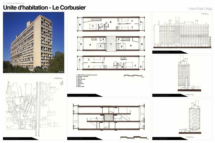 Unit d habitation marseille art 101 modern for Plan habitation