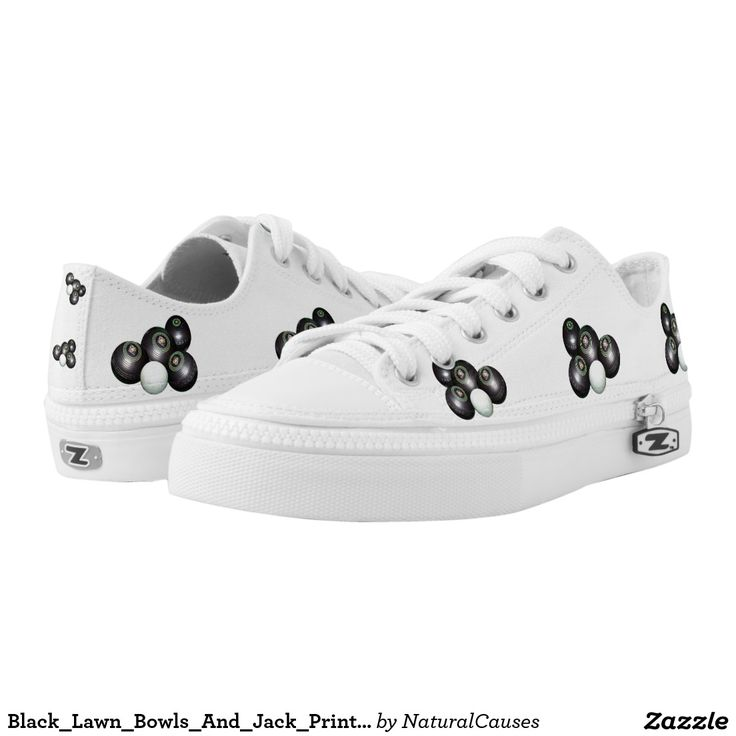 Black_Lawn_Bowls_And_Jack_Printed_Zipz,_Sneakers Printed Shoes