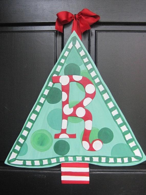 20 best Wooden Door Hangers CHRISTMAS TREES images on Pinterest - healthcare door hanger