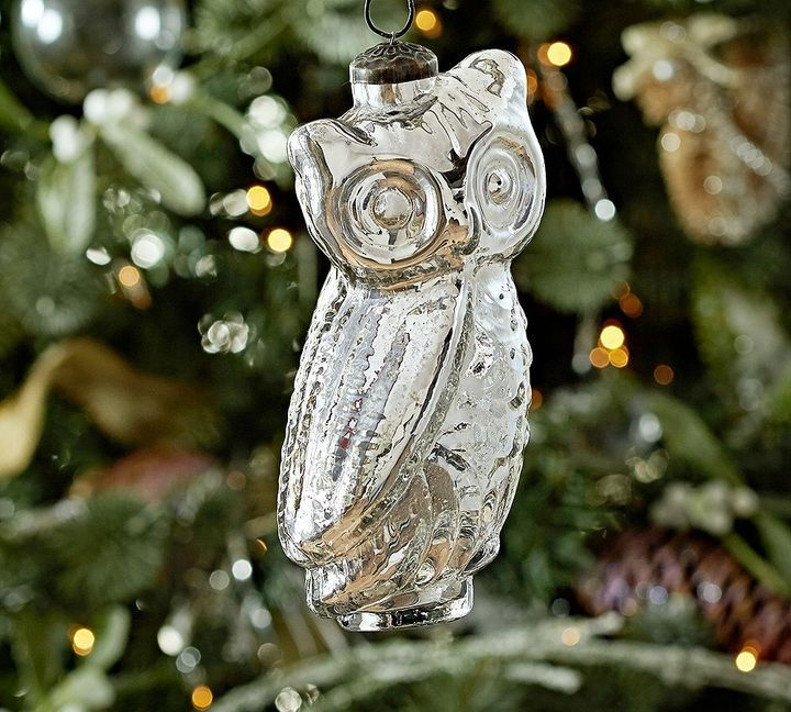 Owl ornament mercury glass and on pinterest