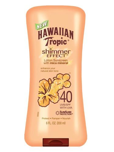Best Sunscreens 2011 - Best Sunscreen Brands To Buy - Cosmopolitan    Best For: Flirting at a BBQ  This is sunscreen that doesn't look—or smell—like sunscreen. It's a shimmery, golden lotion that just happens to have SPF40.    Hawaiian Tropic Shimmer Effect SPF40, $9.99, drugstore.com    Read more: Best Sunscreens 2011 - Best Sunscreen Brands To Buy - Cosmopolitan