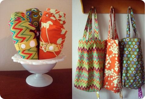 Totes tutorialBags Tutorials, Totes Tutorials, Gift Ideas, All Fabrics, Grocery Bags, Rolls Up Totes, Totes Bags, Silly Pearls, Fabrics Bags
