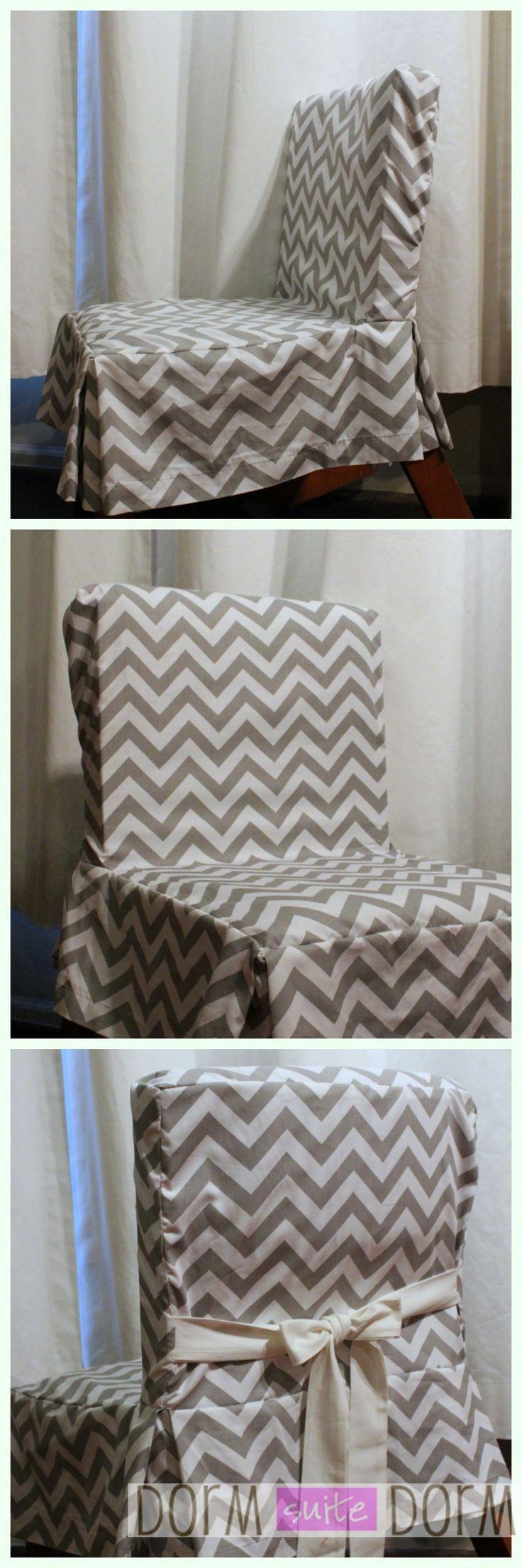 ~~REPIN~~ Cute dorm room chair cover #dorm #dormbedding