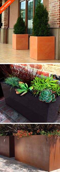 large size planters for dramatic outdoor patio/courtyard impact - free shipping