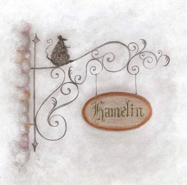 El flautista de Hamelin - Pied Piper of Hamelin on Illustration Served
