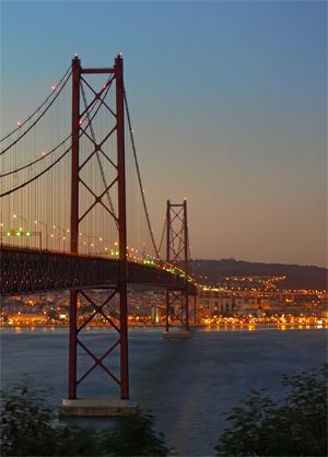 The river Tejo in Lisbon!  Tejo e Lisboa!