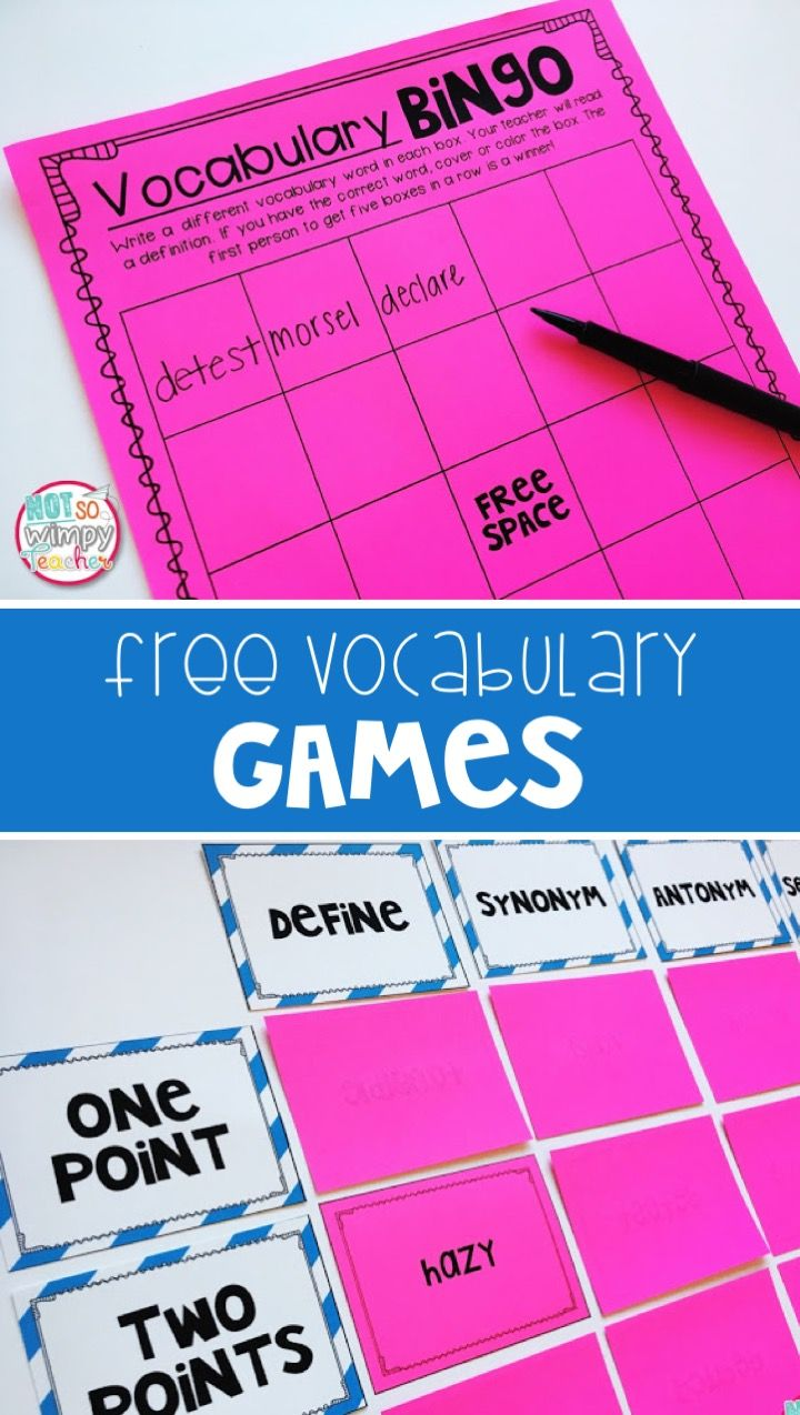 These free vocabulary games are a great way to review words with the whole class or in centers!