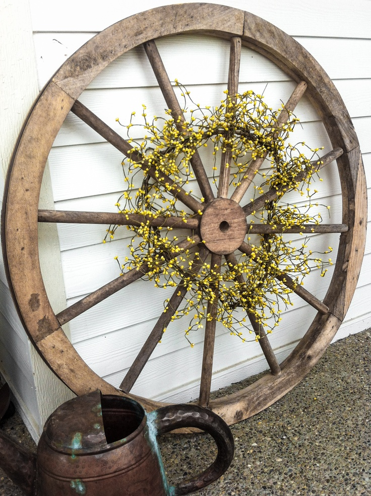 Antique Garden Tools Display