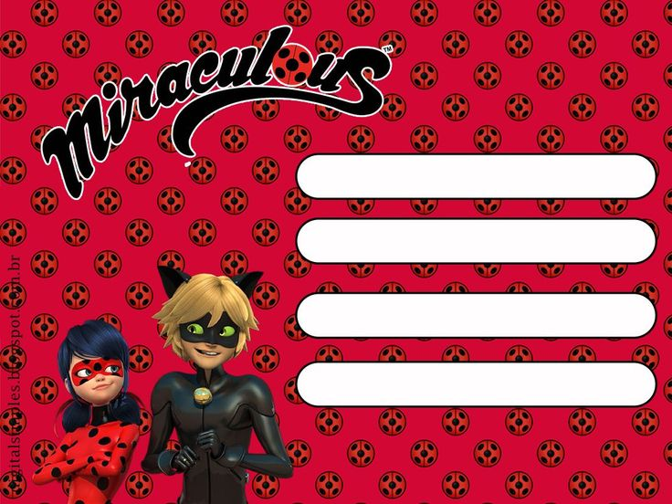 Miraculous Ladybug Free Party Printables And Invitations Kids Party Em 2019 Festa Lady Bag