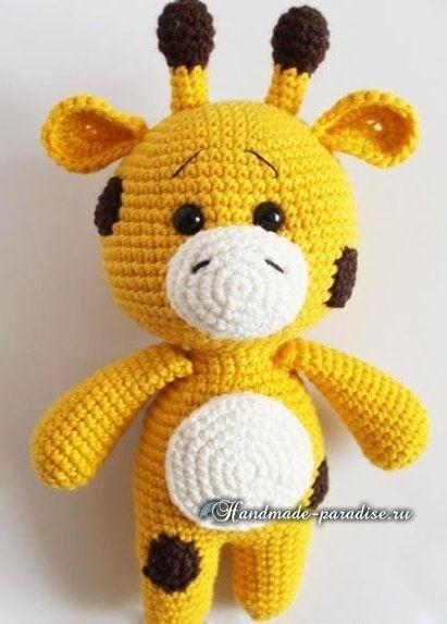 Giraffe and crochet doll Zoe.  Description