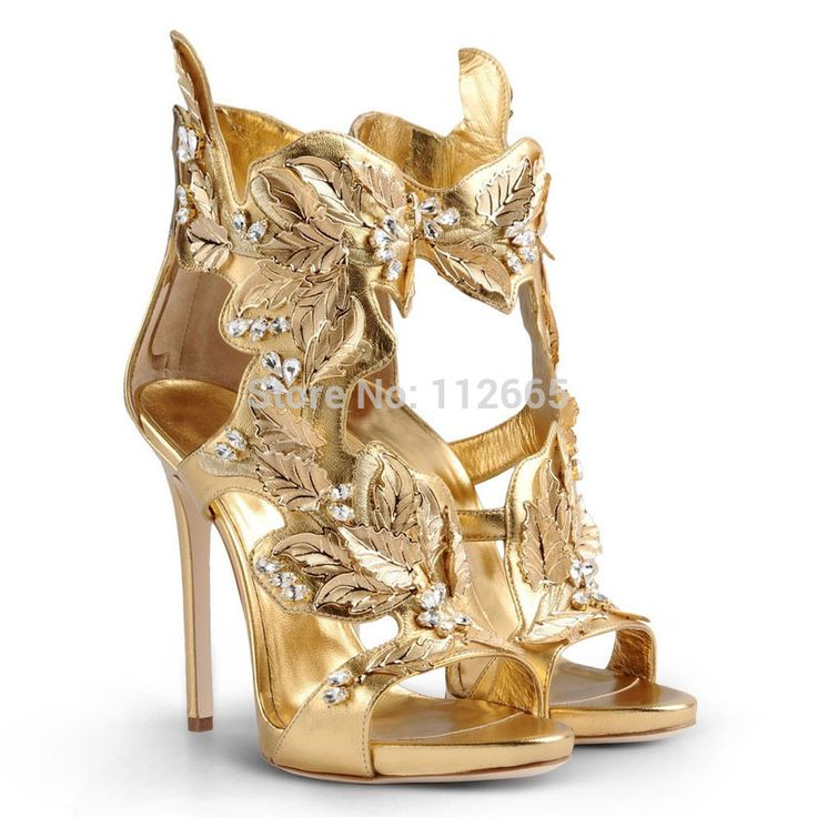 2015 dedo aberto sapatos plataforma mulher Sexy sandálias de salto alto verão sapatos novo estilo folha de ouro de casamento sapatos sandálias Femininas em Sandálias de Sapatos no AliExpress.com | Alibaba Group