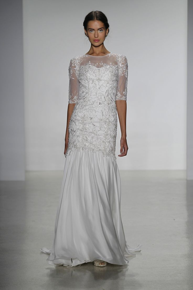 The dress gallery - Sheer Illusion Sleeves And Detailed Beading Kelly Faetanini Fall 2014