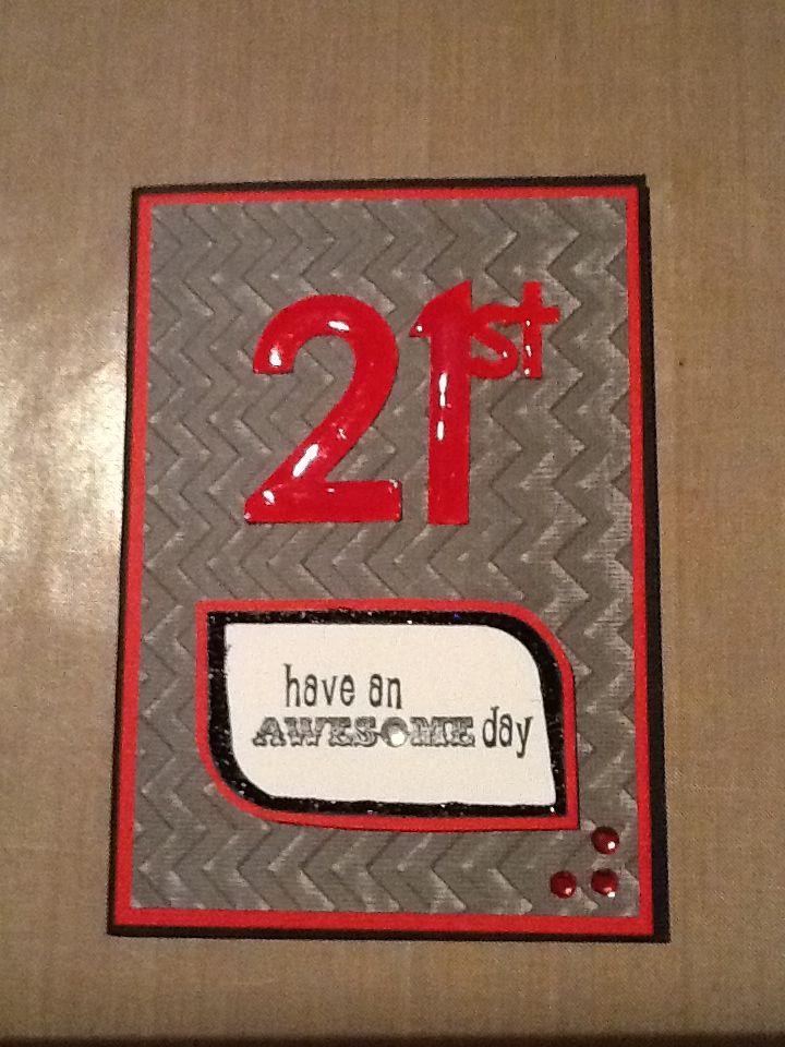 Nathan's 21st card