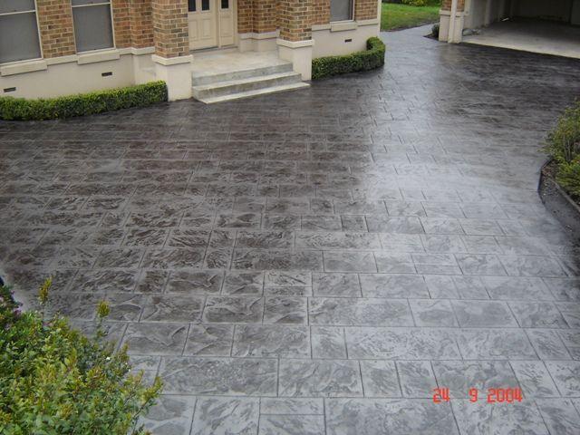 about concrete driveway finishes on pinterest decorative concrete. Black Bedroom Furniture Sets. Home Design Ideas