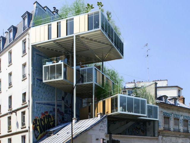 Maison sur le toit Quai de Valmy - Stéphane Malka Architecture - 19e Paris