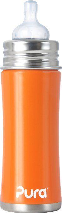 Pura Kiki 897261002696 - Biberon in acciaio, 325 ml, colore: Arancione