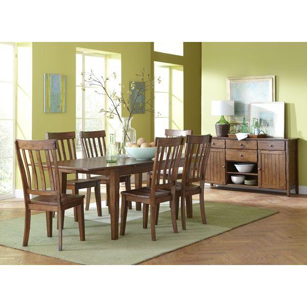 Distressed Oak Dining Room Set