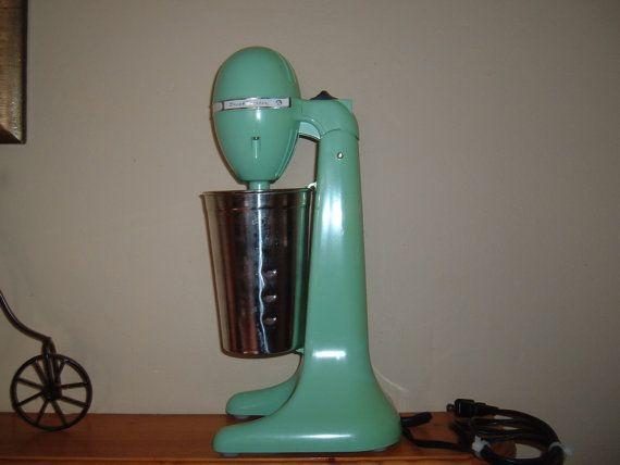 Retro Milkshake machine Hamilton Beach by TwoMoonsDishesnMore, $29.99