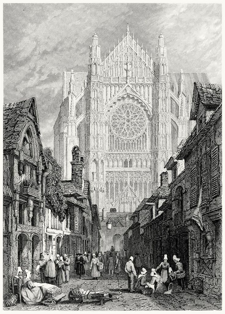 oldbookillustrations: Beauvais. Samuel Prout, from The gallery of modern British artists, London, 1834. (Source: archive.org)