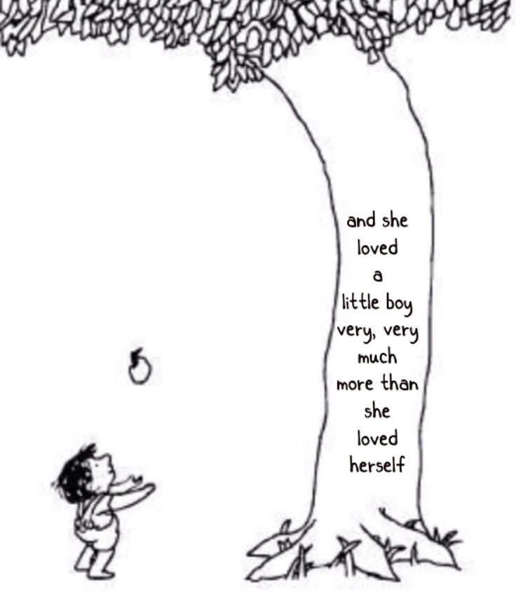 "the giving tree essays Book report on shel silverstein's ""the giving tree"" 1 genre of shel silverstein's ""the giving tree"": children's literature – fiction we will write a custom essay sample on book report on shel silverstein's ""the giving tree"" or any similar topic specifically for you do not waste your time send by clicking send, you agree."