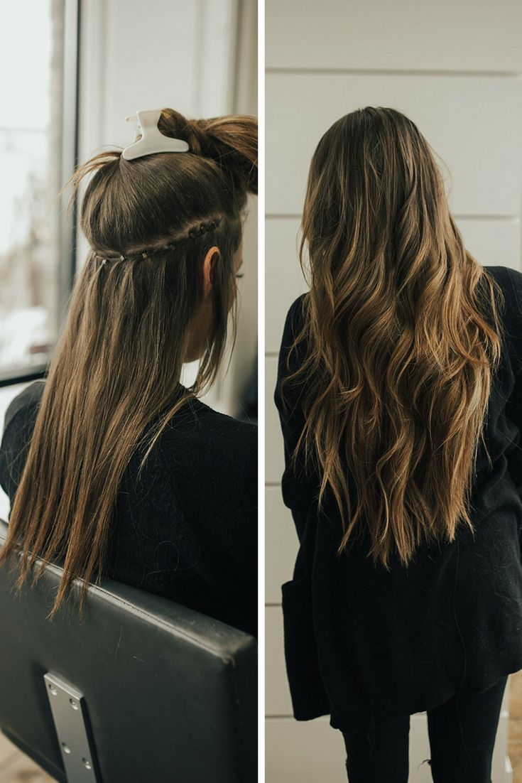 Before and After of Bohyme Natureal Beaded Row Extensions