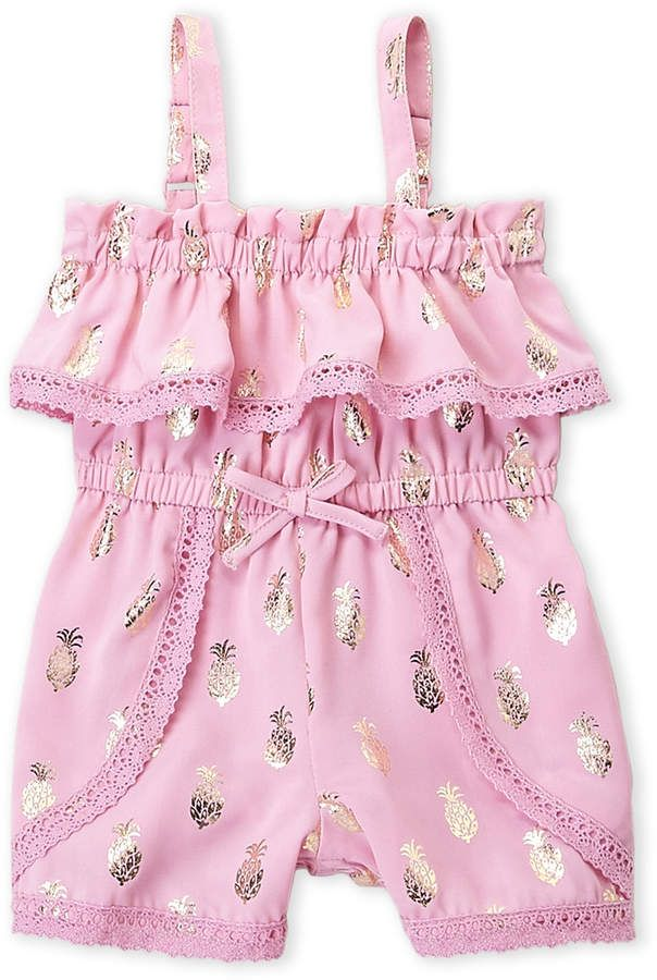 Juicy Couture Toddler Girls Foil Pineapple Romper Juicy Couture Baby Baby Girl Fashion Baby Girl Clothes