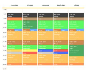 Gratis leerkrachten.tool: Lespret.nl – Maak samen met je duocollega een digitaal weekrooster!